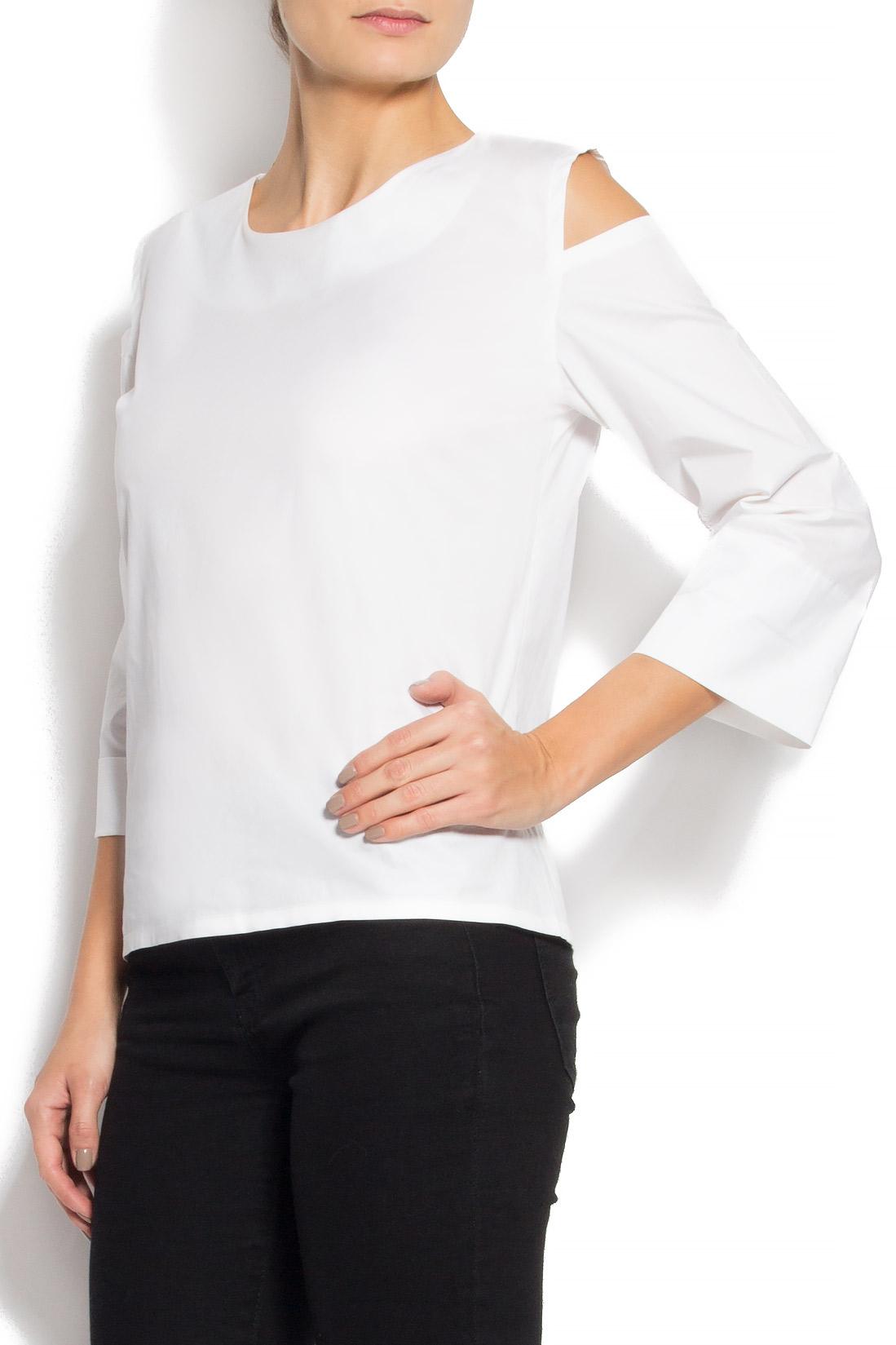 Bluza din bumbac cu decupaje Undress imagine 1