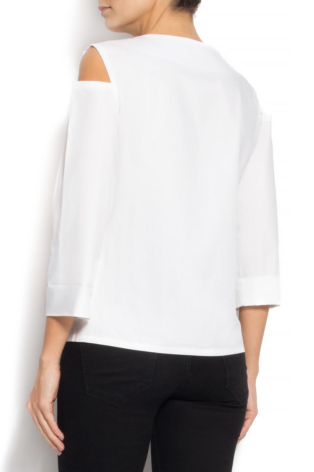 Bluza din bumbac cu decupaje Undress imagine 2