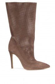 Atelier Faiblesse Perforated suede ankle boots