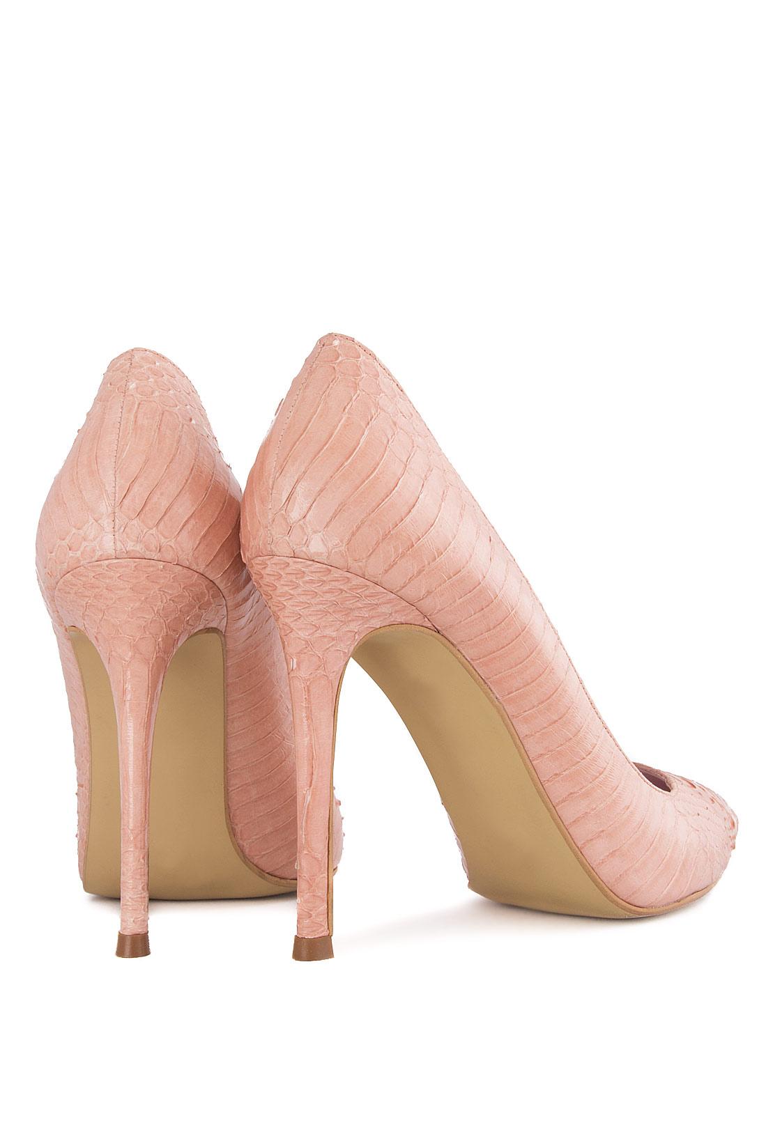 Atelier Faiblesse   Pantofi din piele naturala de piton