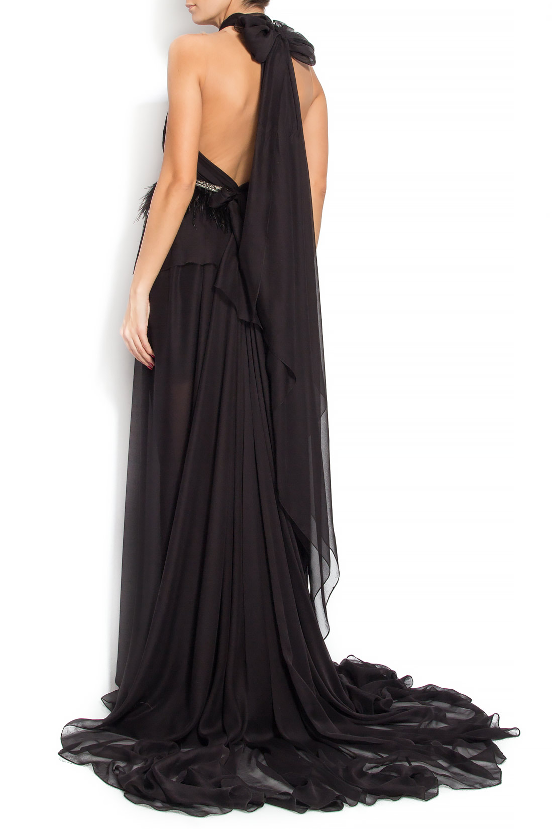 'Bianca' silk gown Manuri image 2