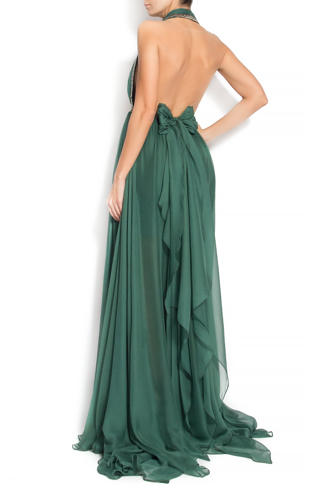 'Vera' backless silk gown Manuri image 2