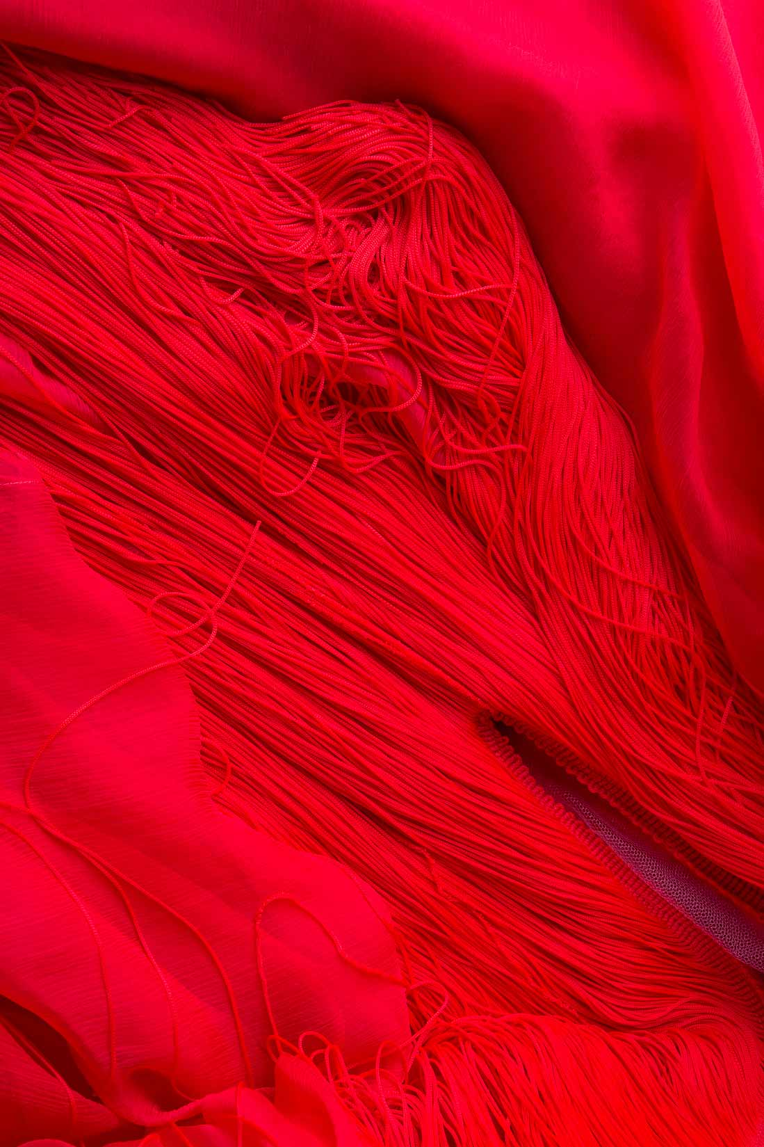 'Harlem' fringed silk mini dress Manuri image 4