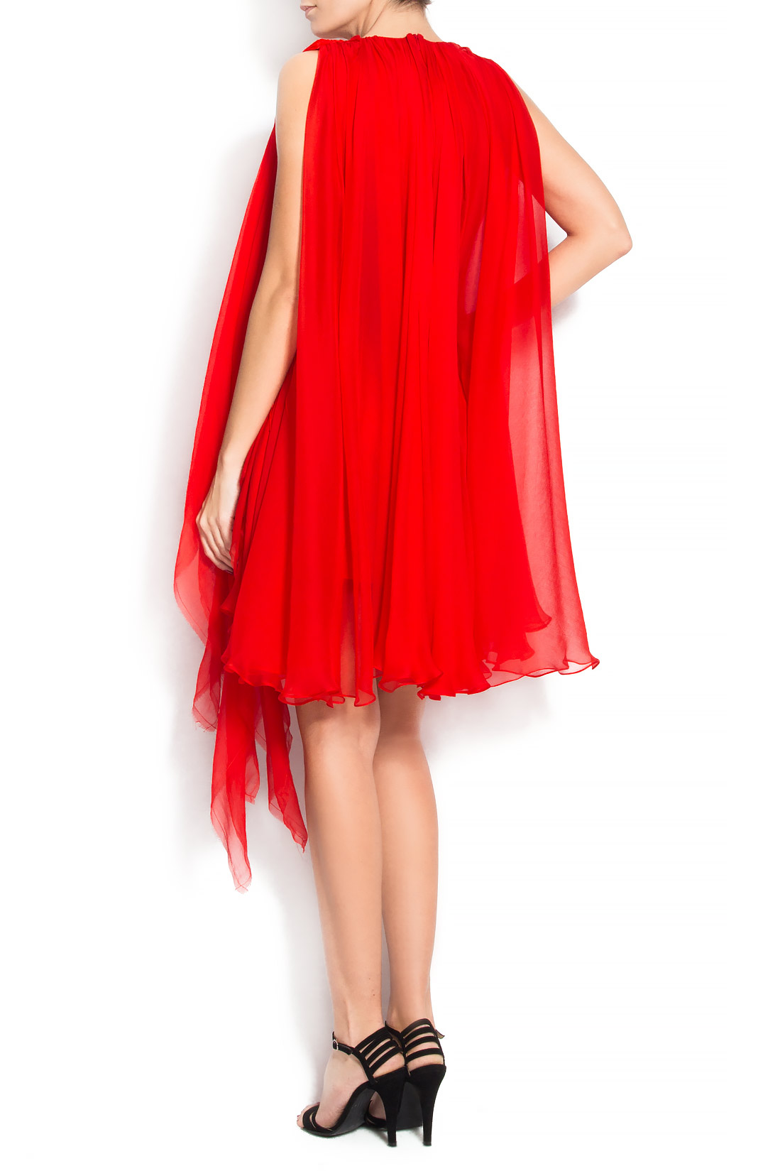 'Harlem' fringed silk mini dress Manuri image 2