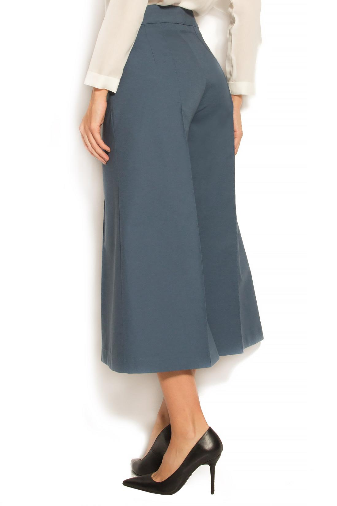 Pantaloni tip culottes din lana si bumbac Lena Criveanu imagine 2