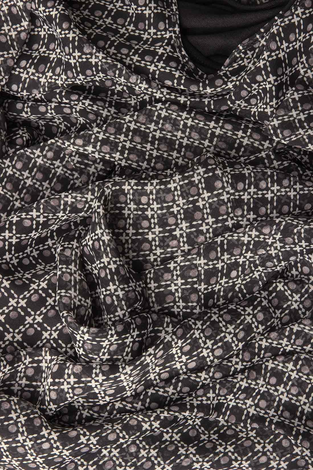 Rochie maxi din voal cu maneci ample Lena Criveanu imagine 4
