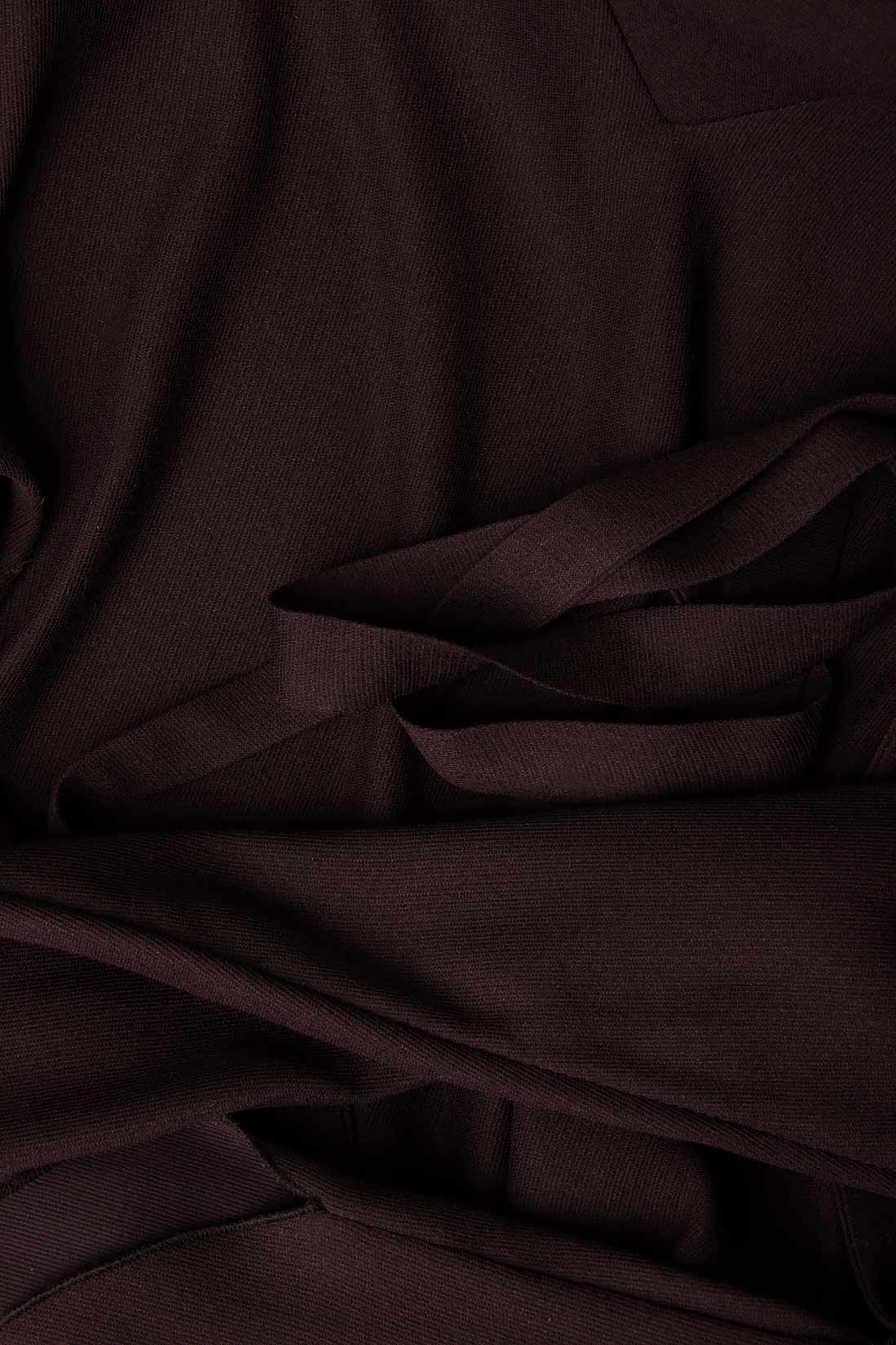 Bluza din stofa de lana si bumbac cu cordon Lena Criveanu imagine 3