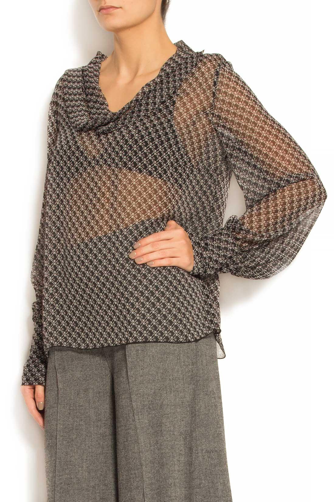 Bluza din voal cu imprimeu Lena Criveanu imagine 1