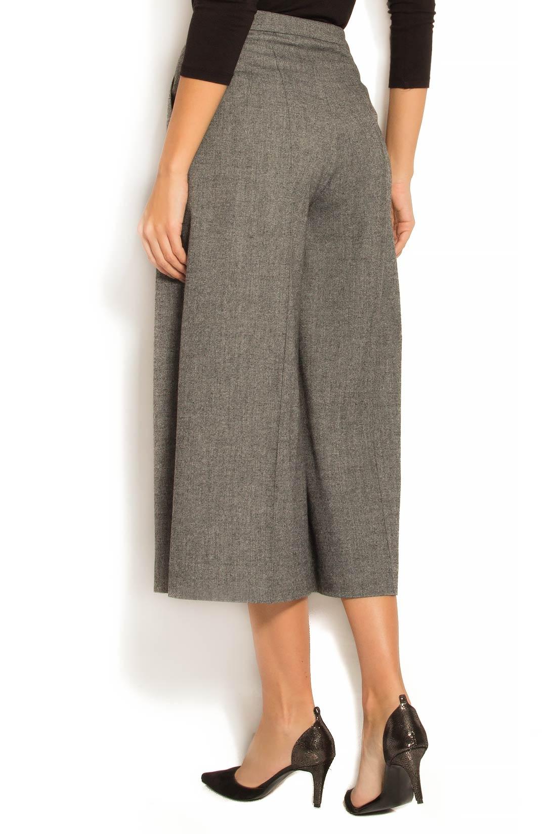 Pantaloni culot din stofa de lana Lena Criveanu imagine 2