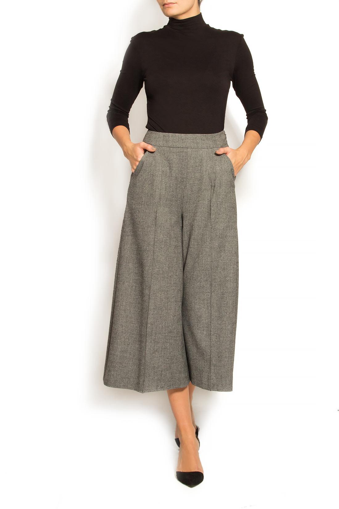 Pantaloni culot din stofa de lana Lena Criveanu imagine 0