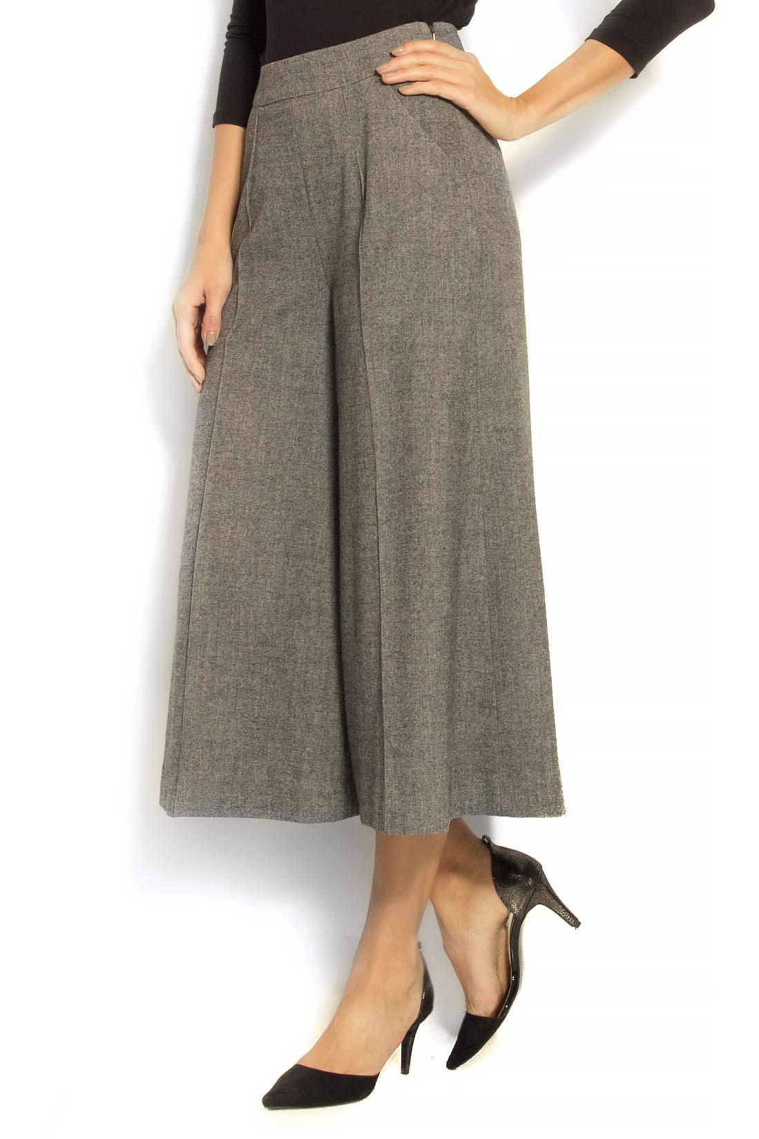 Pantaloni culot din stofa de lana Lena Criveanu imagine 1