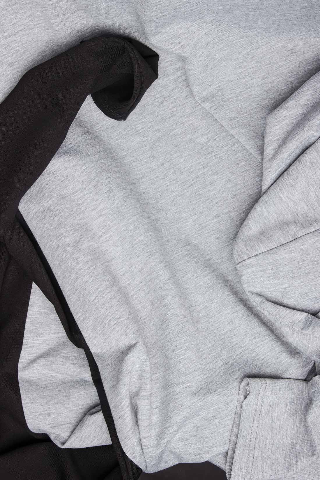 Bluza din bumbac cu maneca neagra Lena Criveanu imagine 3