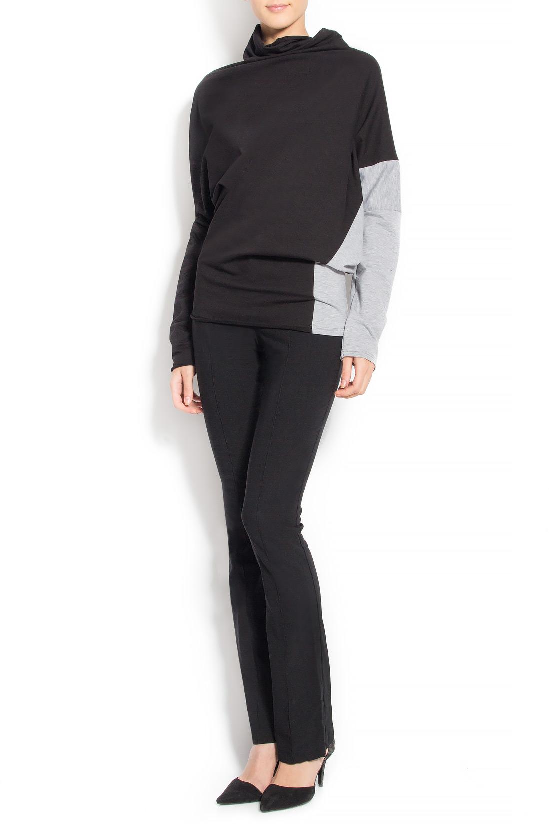 Bluza asimetrica din bumbac  Lena Criveanu imagine 0