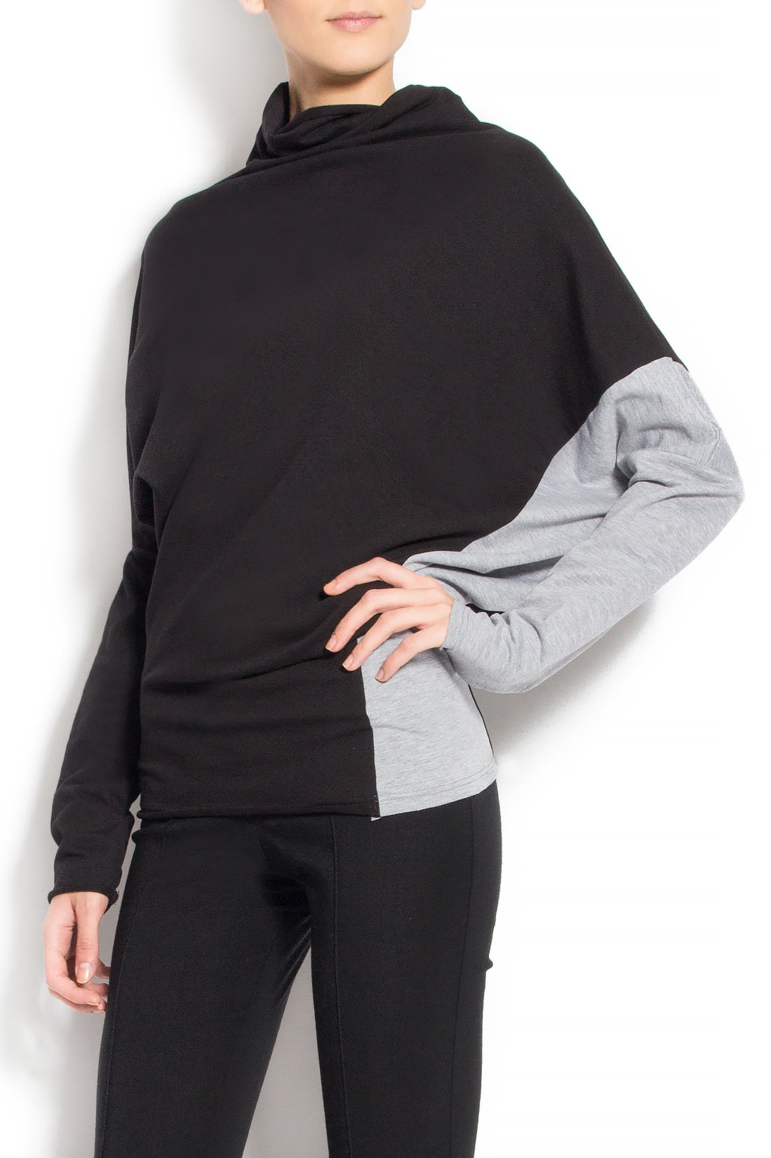 Bluza asimetrica din bumbac  Lena Criveanu imagine 1