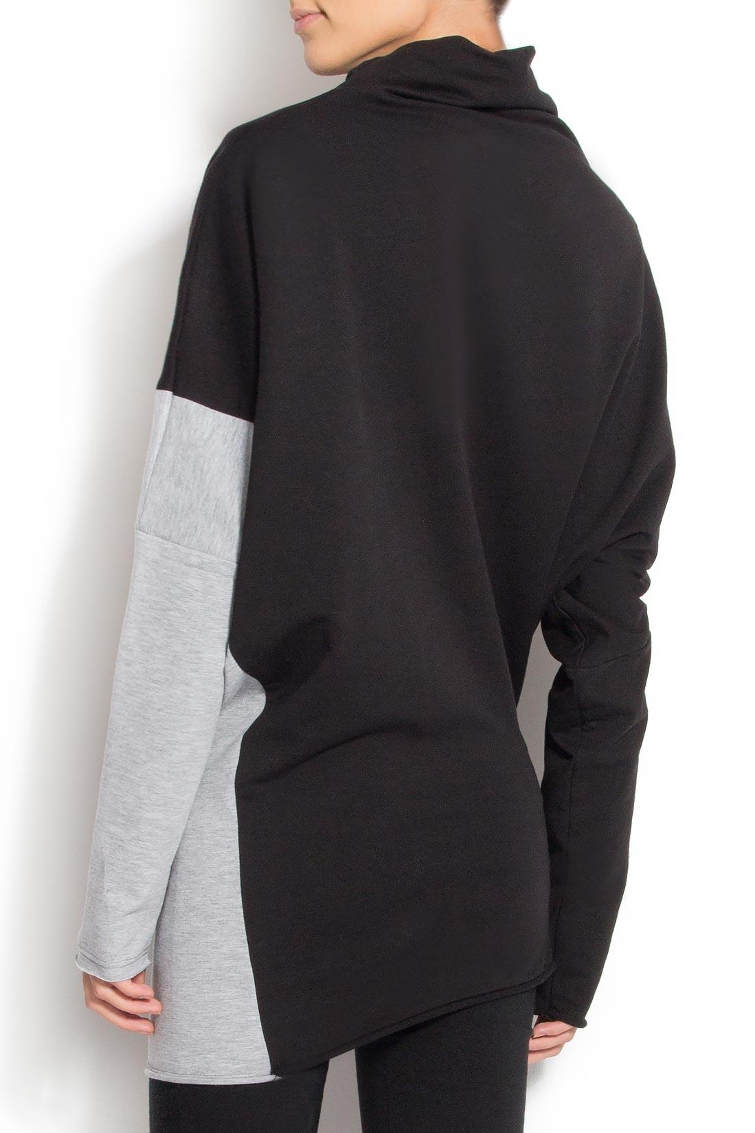 Bluza asimetrica din bumbac  Lena Criveanu imagine 2