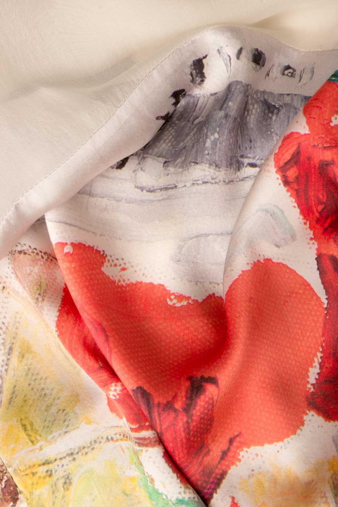 Bluza din matase naturala imprimata Argo by Andreea Buga imagine 3