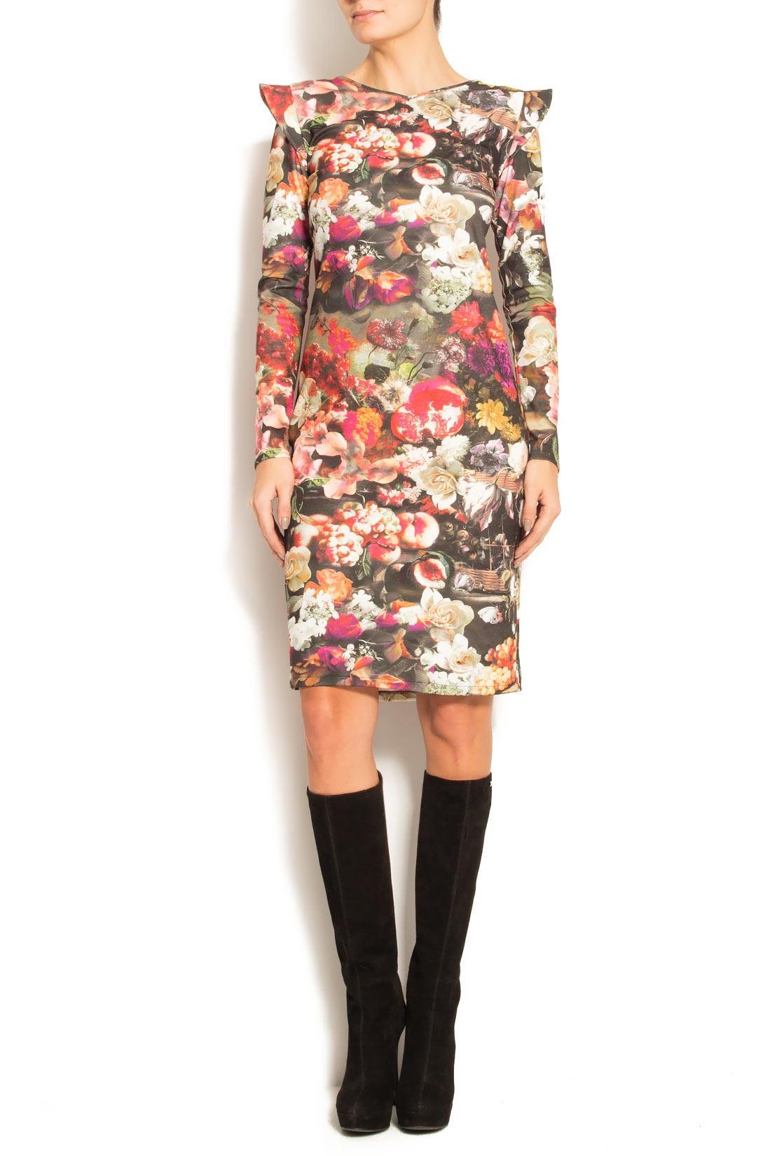 Rochie din neopren cu imprimeu floral Arina Varga imagine 0