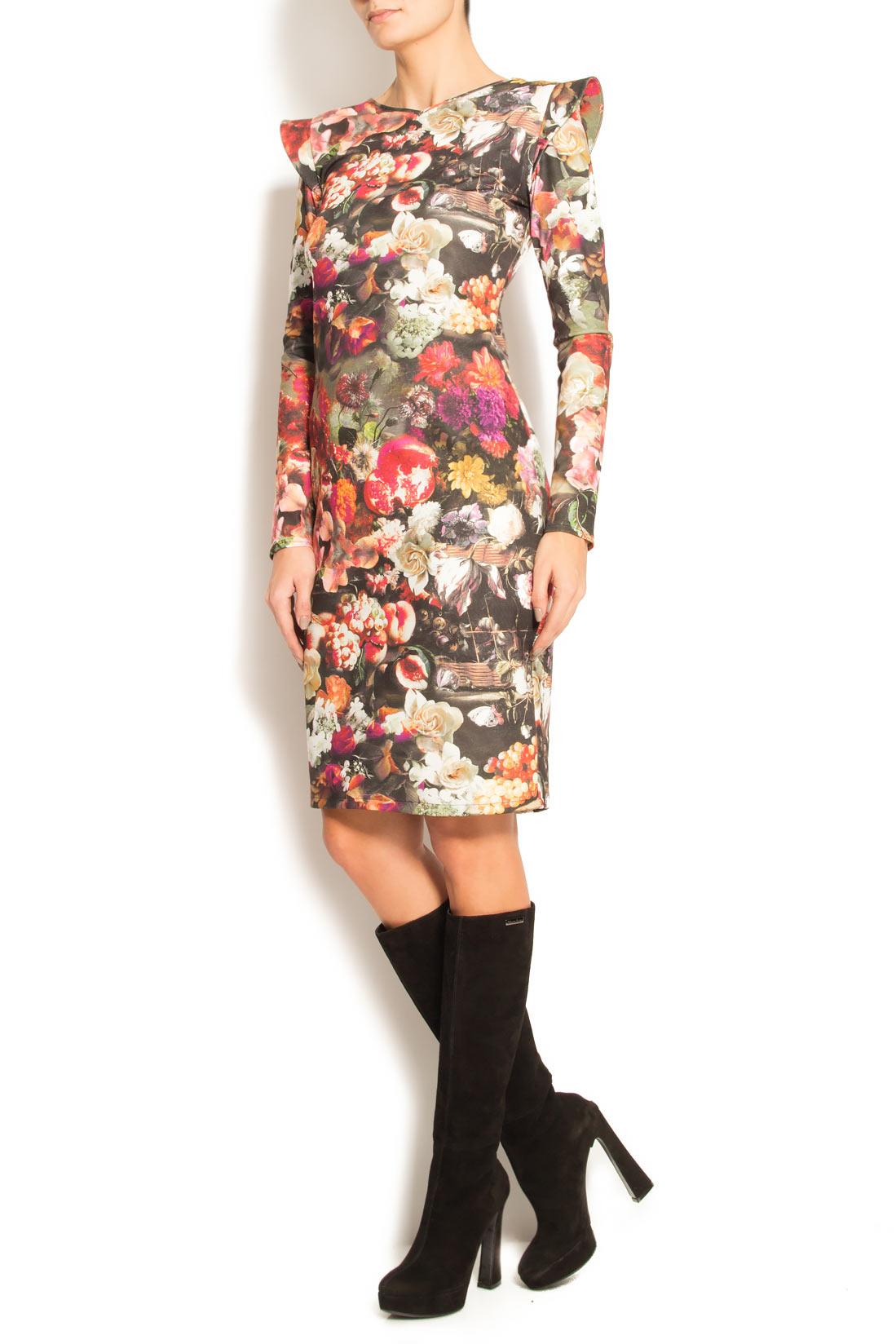 Rochie din neopren cu imprimeu floral Arina Varga imagine 1