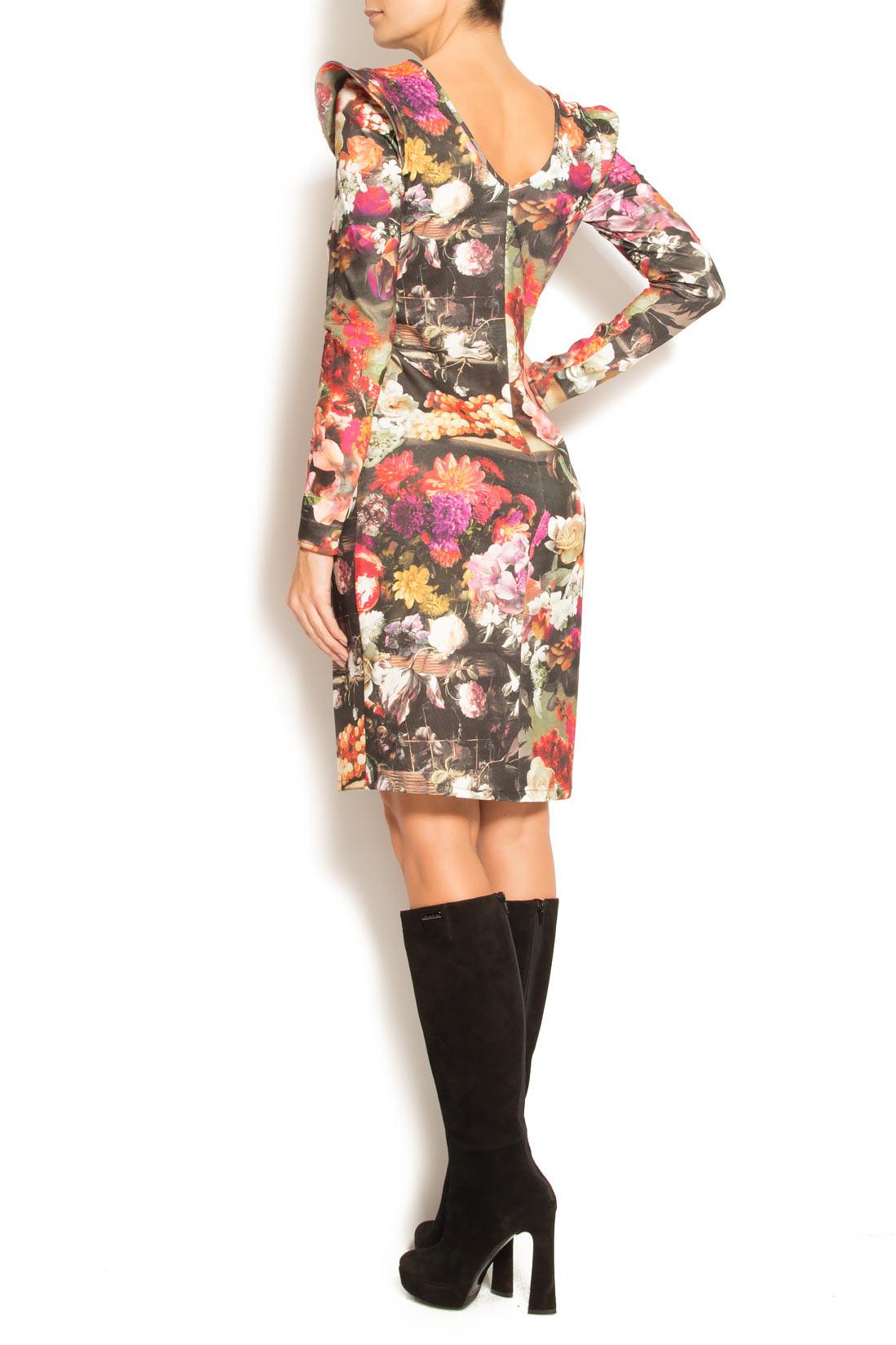 Rochie din neopren cu imprimeu floral Arina Varga imagine 2