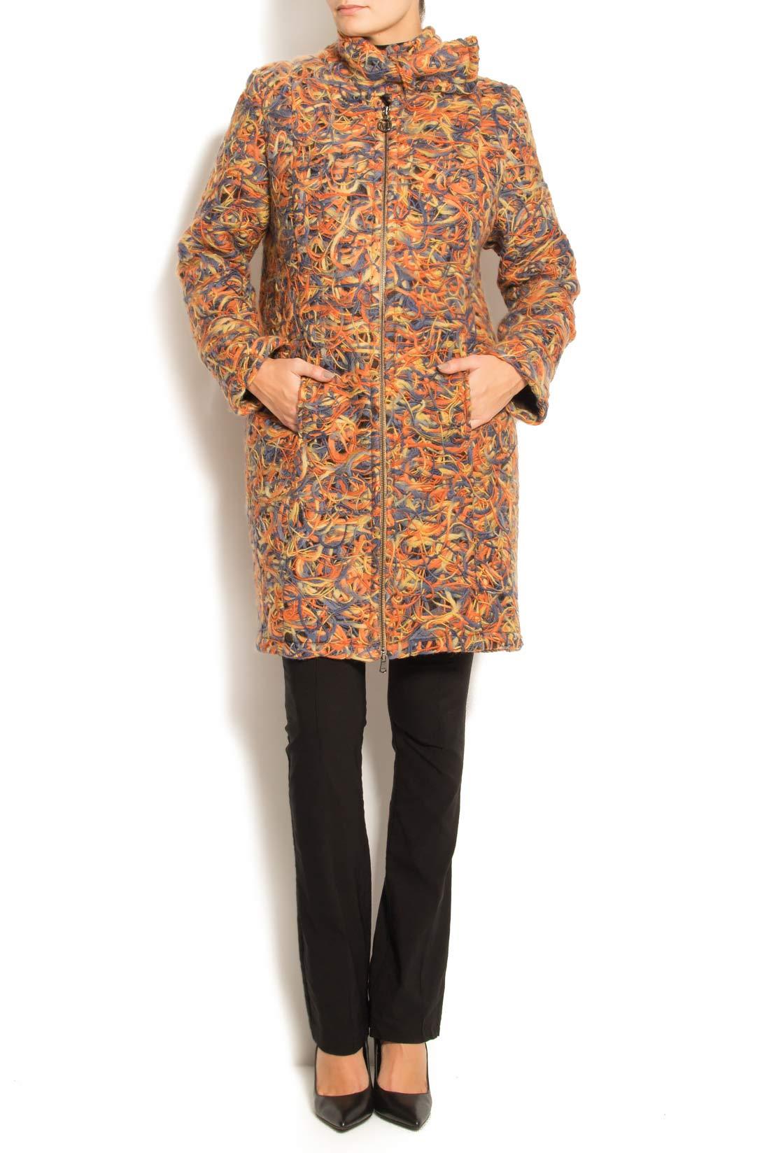 Palton din lana cu buzunare laterale Arina Varga imagine 0