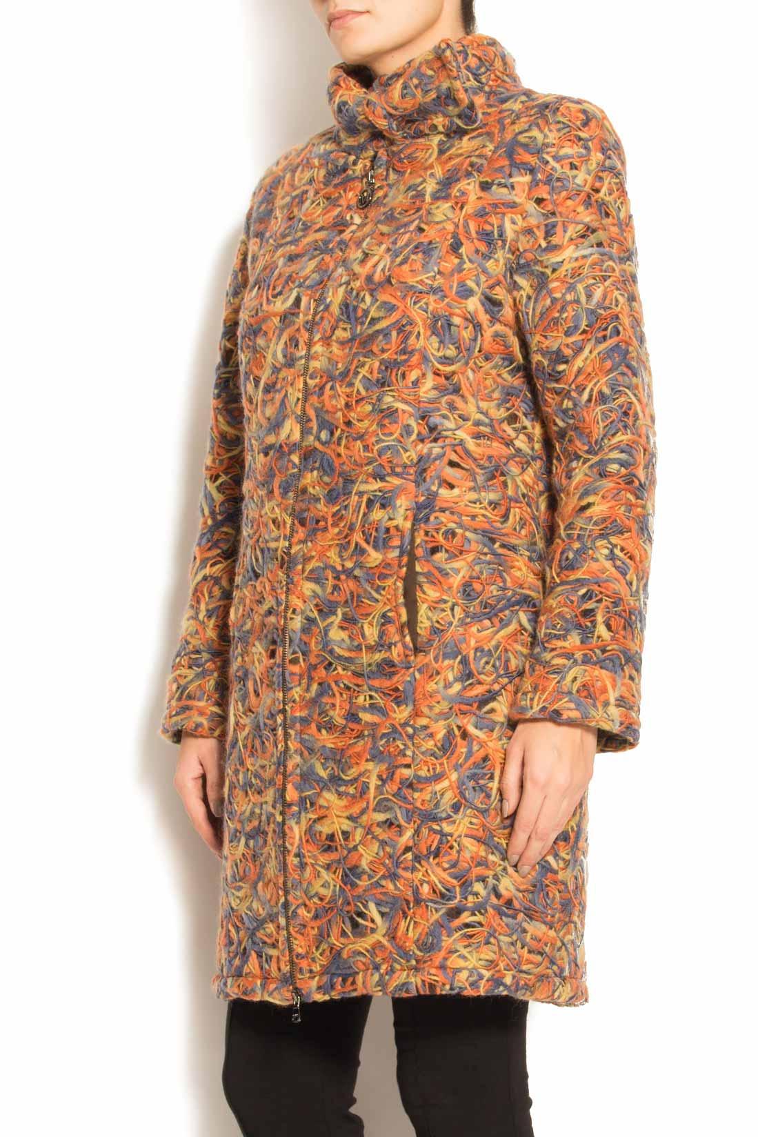 Palton din lana cu buzunare laterale Arina Varga imagine 1
