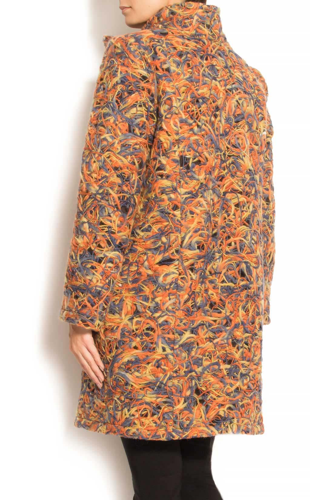 Palton din lana cu buzunare laterale Arina Varga imagine 2