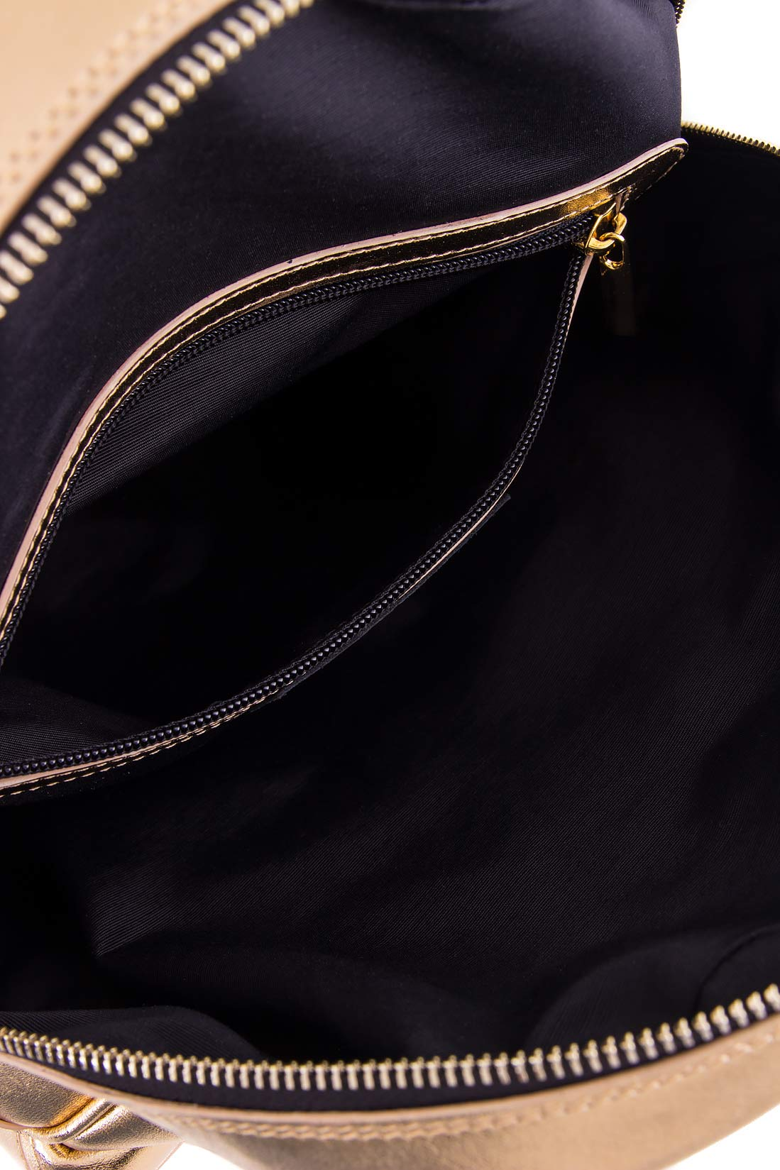 Metallic leather backpack Laura Olaru image 3