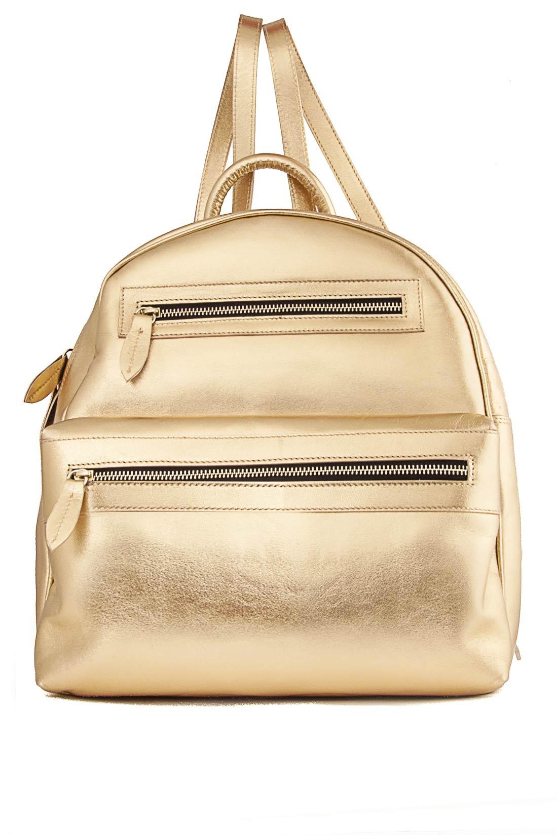 Metallic leather backpack Laura Olaru image 0