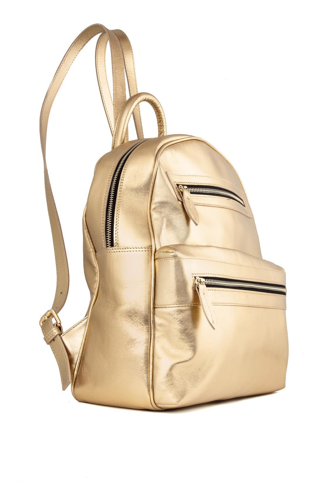 Metallic leather backpack Laura Olaru image 1