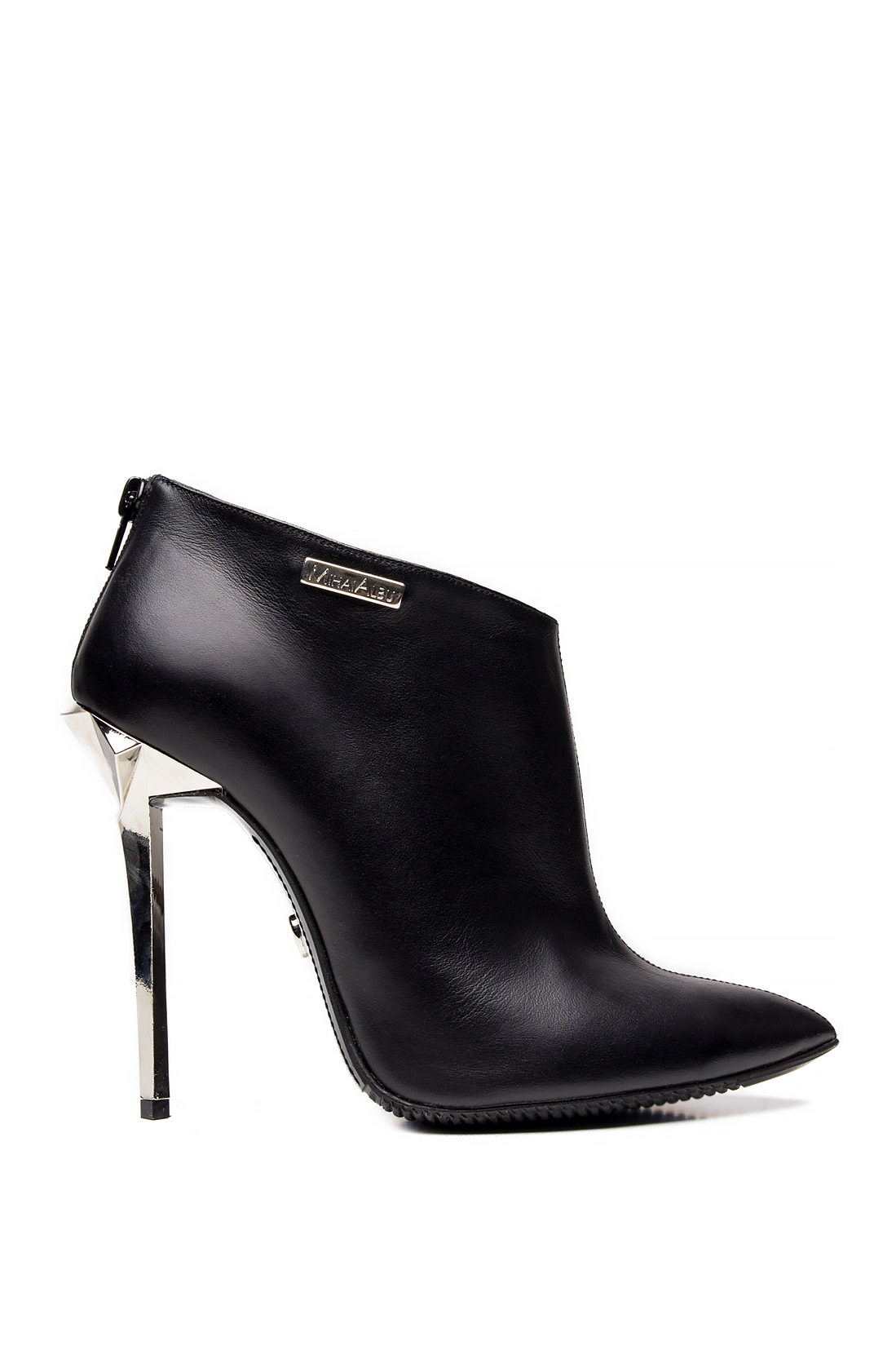 Leather Ankle Boots Heeled Shoes Made To Measure Slingback Stealth Mihai Albu Image 0