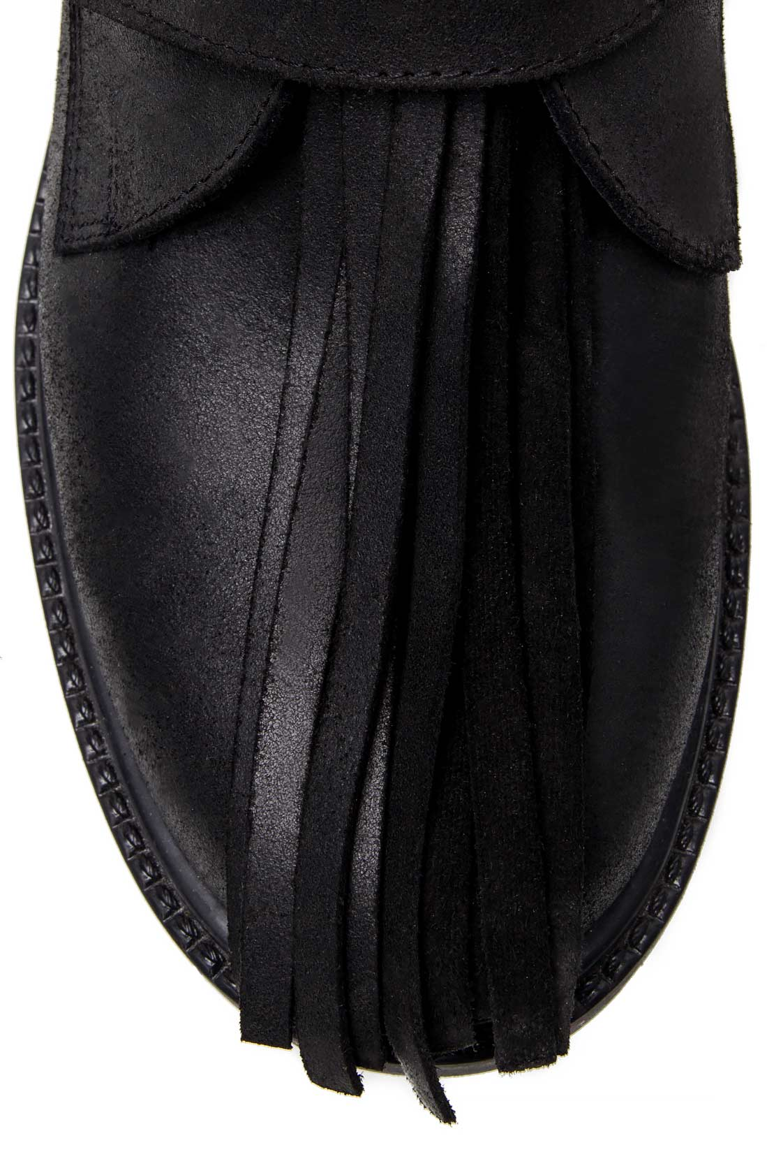 Fringed cutout leather ankle boots Mihaela Glavan  image 3