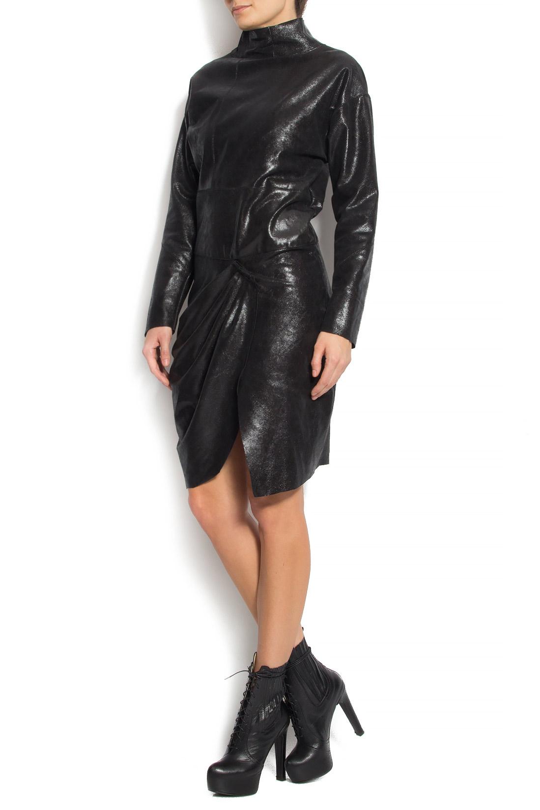 Turtleneck Leather Mini Dress Mini Dresses Made To Measure