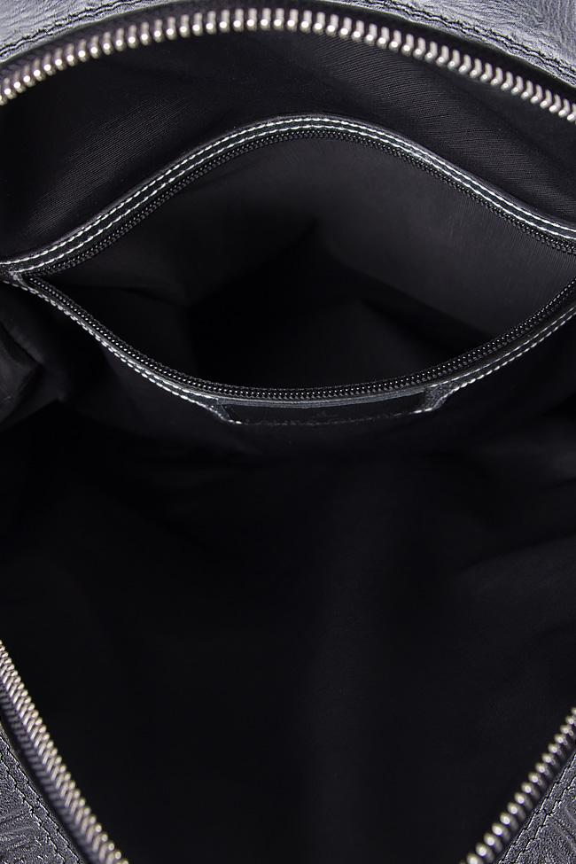 Croc-effect leather backpack Laura Olaru image 3