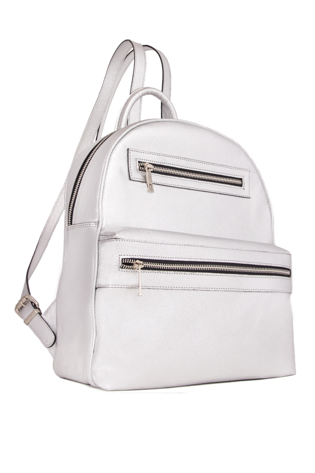 Metallic leather backpack Laura Olaru image 1