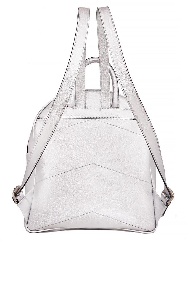 Metallic leather backpack Laura Olaru image 2