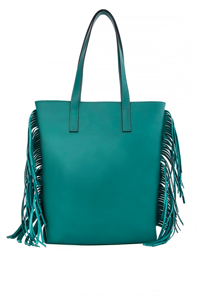 Fringed leather shoulder bag Laura Olaru image 2