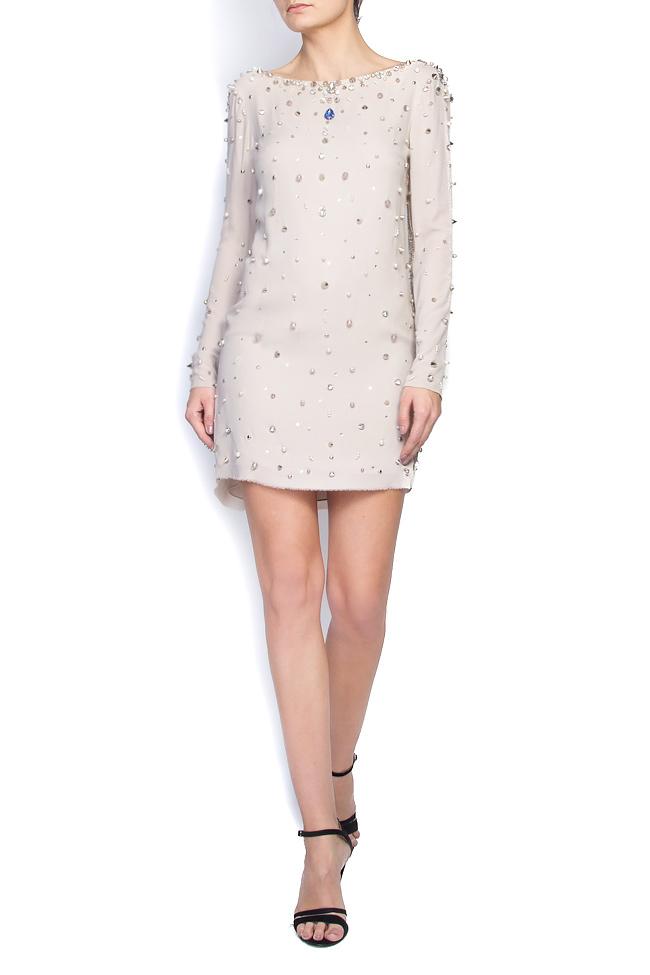 Embellished open-back silk dress Manuri image 0