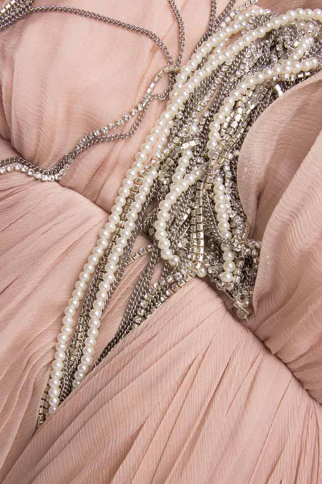 Silk-chiffon corset gown  Manuri image 3