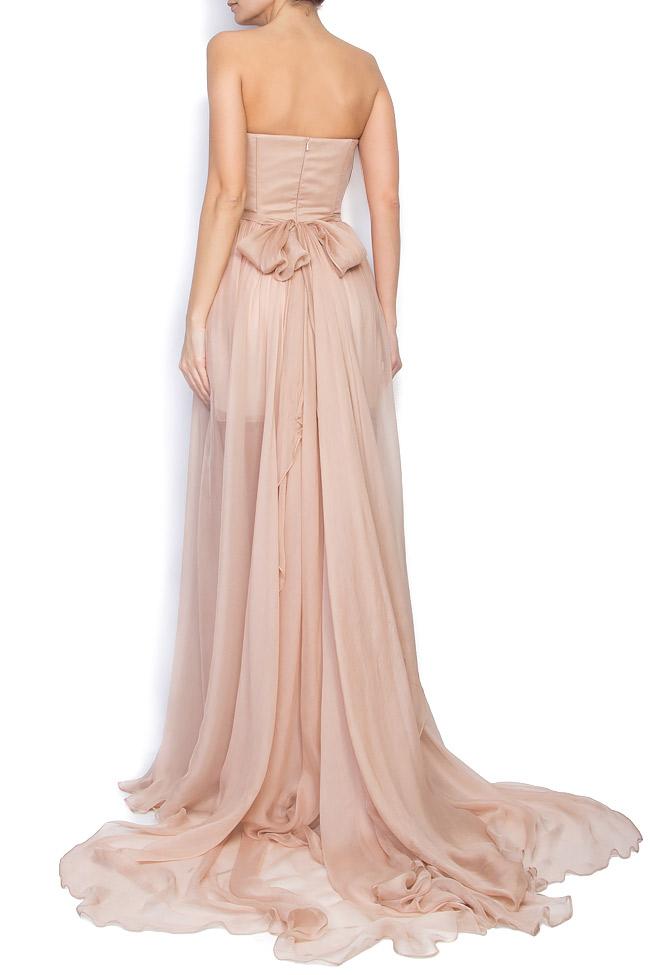 Silk-chiffon corset gown  Manuri image 2