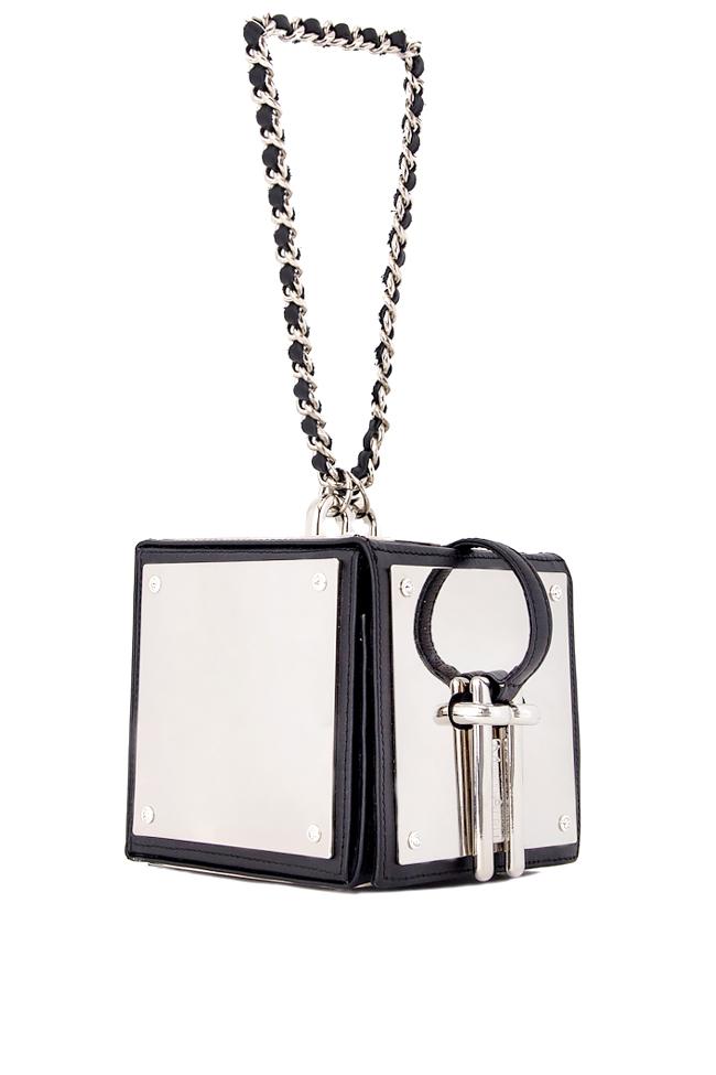 Metallic mirrors leather box clutch Mihai Albu image 1