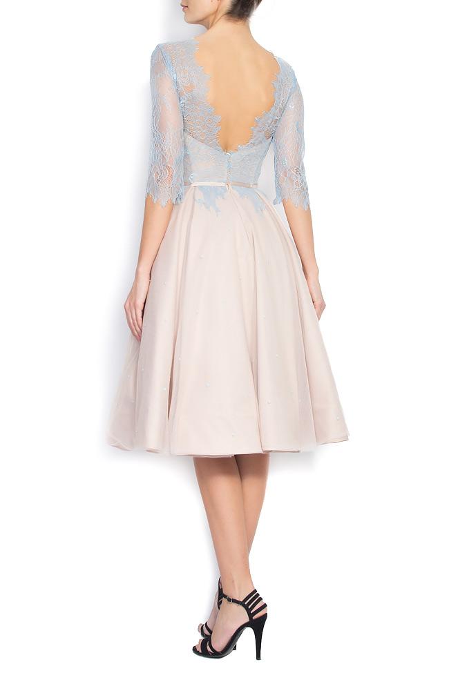 Open-back Chantilly lace asymmetric dress Nicole Enea image 2