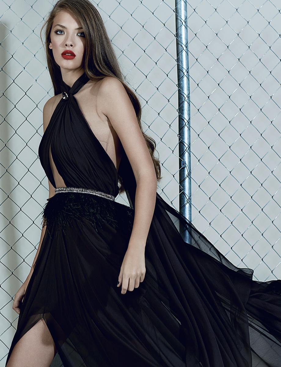 'Bianca' silk gown Manuri image 3
