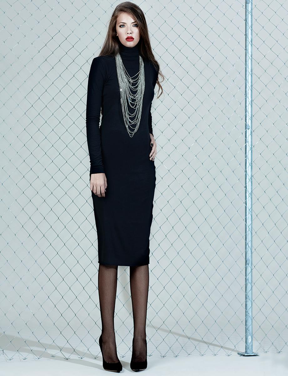 'Marianne' midi crepe dress Manuri image 3