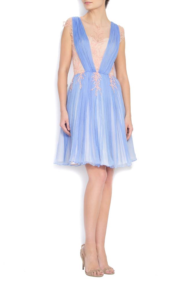 Embellished silk-mousseline gown Nicole Enea image 0