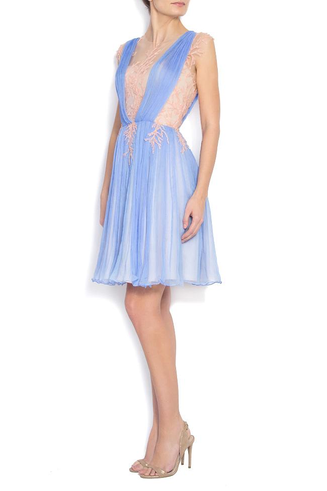 Embellished silk-mousseline gown Nicole Enea image 1