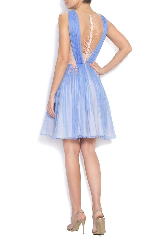 Embellished silk-mousseline gown Nicole Enea image 2