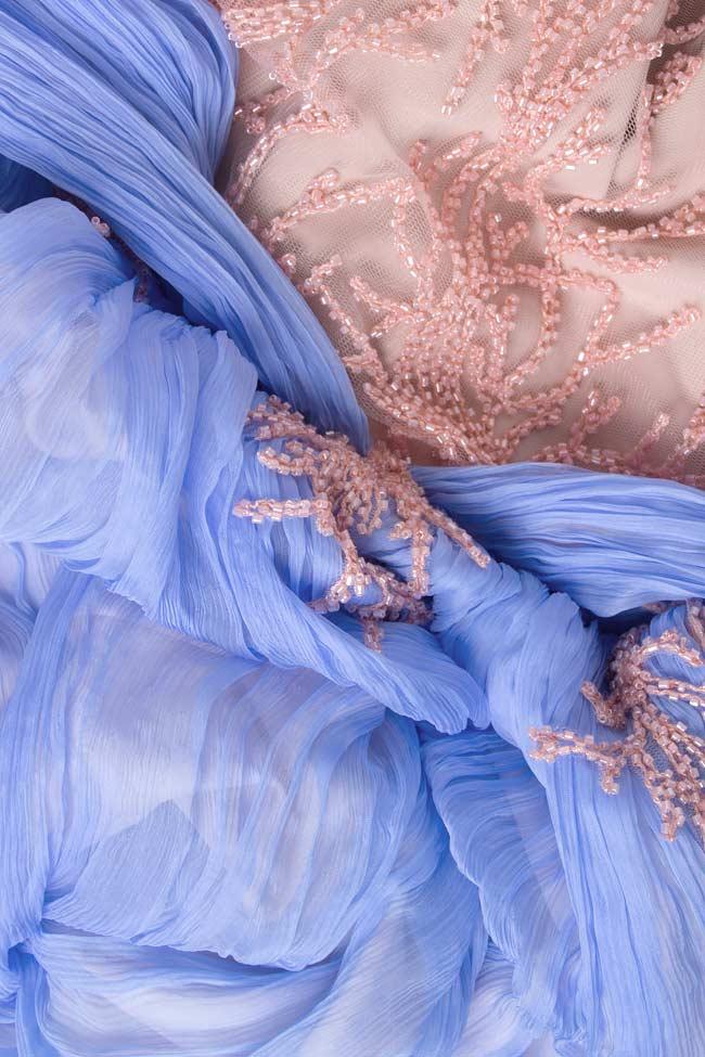 Embellished silk-mousseline gown Nicole Enea image 3