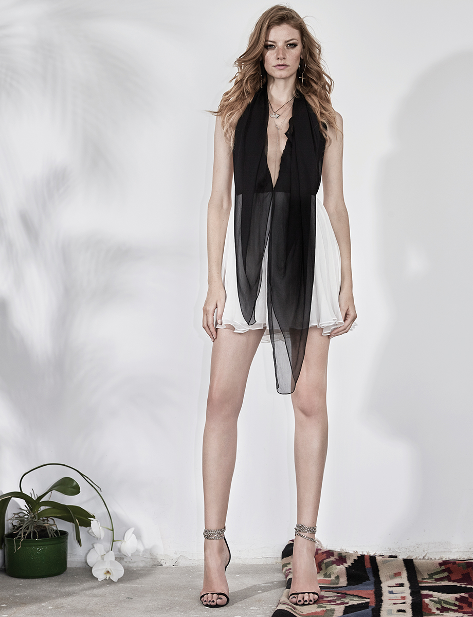 RAFFI open-back silk mini dress Manuri image 3
