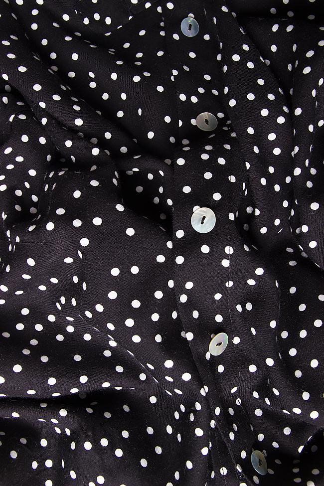 Camasa din jerseu neagra cu buline albe Lena Criveanu imagine 3
