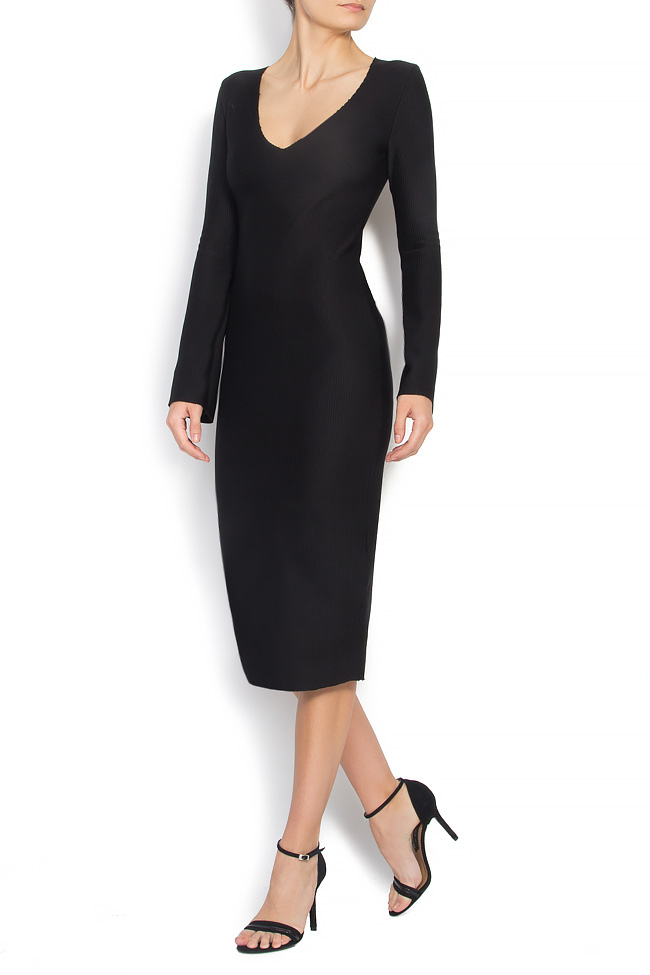 Ribbed stretch cotton-blend dress Cloche image 1